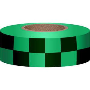 Checkered Green/Black Flagging, 300'