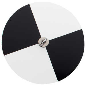WaterMark Limnological Weighted Secchi Disc, Black/White