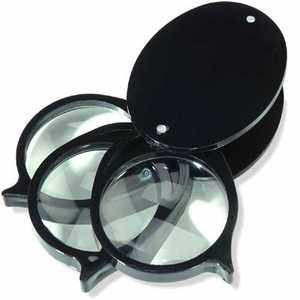 Folding Pocket Magnifier, Glass Lens