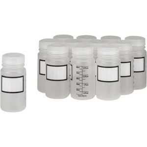 Dynalab 60mL Graduated Write-On Bottles, Pkg. of 12