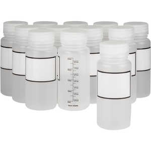 Dynalab 250mL Graduated Write-On Bottles, Pkg. of 12