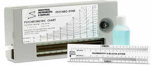 Psychro-Dyne Portable Battery-Operated Psychrometer