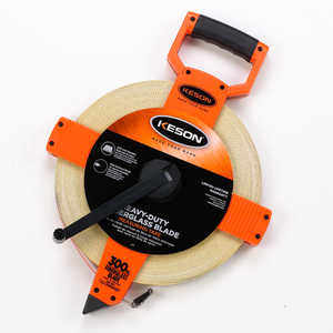 Keson Open Reel Fiberglass Tape, 330'/100m, Model OTR-18m-300