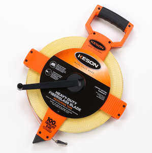 Model OTR100 mm Keson Open Reel Fiberglass Tape, 100m