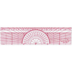 "C-Thru 6""L Engineer's Protractor Ruler"