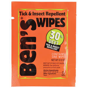 Ben's® 100, 30 Tick and Insect Repellent, Wipes, Pkg. of 12
