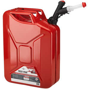 Briggs & Stratton Press 'N Pour Jerry Can, 5-Gallon