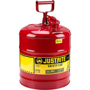 Justrite Type I Safety Can, 5-Gallon Gasoline Can