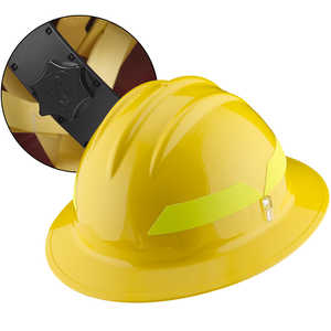 Yellow Hat, Bullard Wildland Fire Helmet with Ratchet Suspension