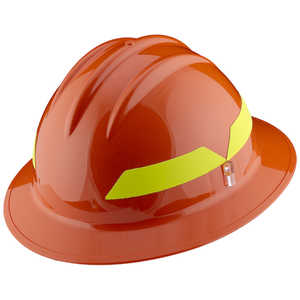 Orange Hat, Model FH911H Bullard Wildland Fire Helmet with Self Sizing 6-Point Suspension