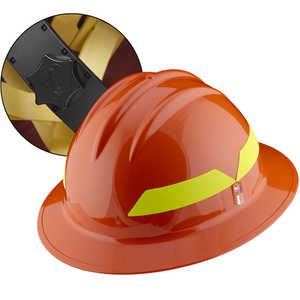 Orange Hat, Bullard Wildland Fire Helmet with Ratchet Suspension