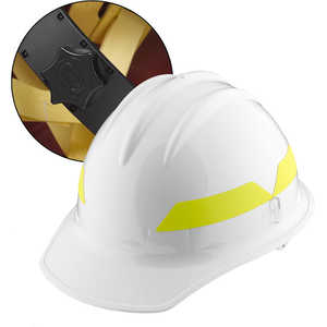 White Cap, Bullard Wildland Fire Helmet with Ratchet Suspension