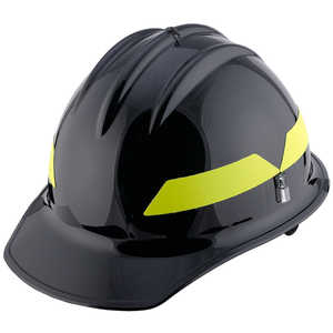 Black Cap, Model FH911C Bullard Wildland Fire Helmet with Self Sizing 6-Point Suspension