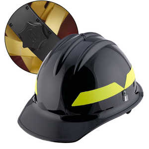 Black Cap, Bullard Wildland Fire Helmet with Ratchet Suspension