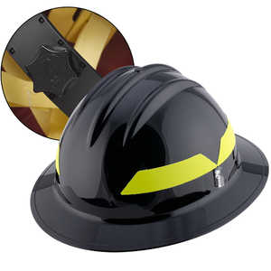 Black Hat, Bullard Wildland Fire Helmet with Ratchet Suspension