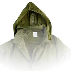 Air-Weave Industrial Rain Jacket Optional Hood, Olive