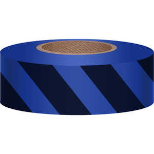 "Blue/Black, Presco Stripe Vinyl Flagging, 1-3/16""W x 300'L"