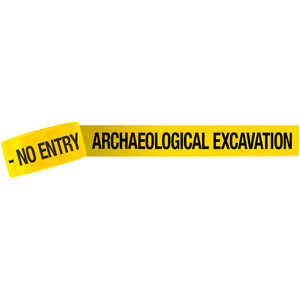 "3-Inch ""ARCHAEOLOGICAL EXCAVATION - NO ENTRY"" Barricade Tape, 1,000' Roll"