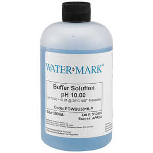 WaterMark NIST Traceable Buffer Solutions, pH 10.00, 500ml Bottle