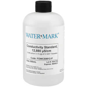 WaterMark NIST Traceable Conductivity Calibration Solution, Standard 12880 us/cm, 500ml