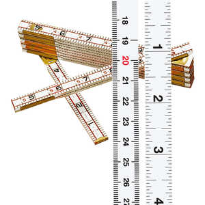Lufkin Red End Folding Rule, English/Metric