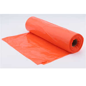 Litter Bags, 20-30 Gallon, Orange, Box of 100