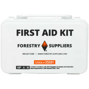 Forestry Suppliers 10-Person Industrial First Aid Kit, Class A