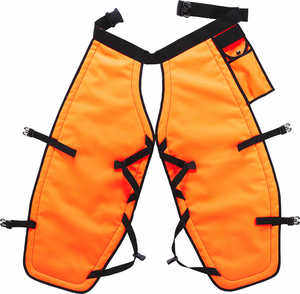 "PGI 5-Ply Para-Aramid Chain Saw Chaps, Orange, 36""L"