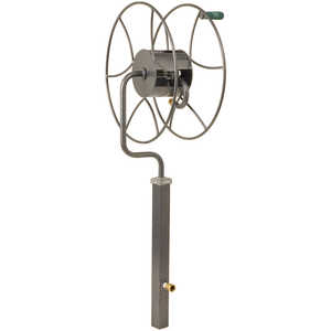 Yard Butler Free Standing Swivel Hose Reel with Post Mount
