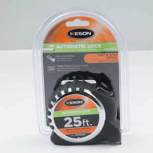 Keson Pro Series Autolock Measuring Tape, ft. 100ths & ft. 16ths