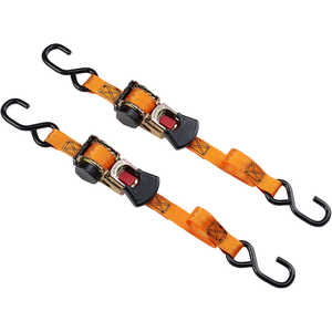Keeper Retractable Ratchet Tie-Down, Pack of 2
