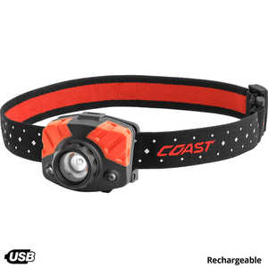 Coast FL75R 3-AAA Cell Rechargeable Headlamp