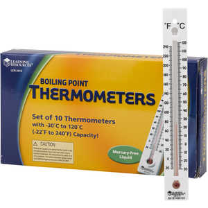 Boiling Point Thermometers, Pack of 10