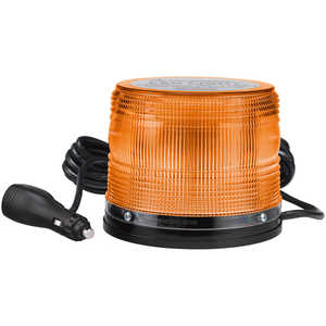 North American Signal 625 Series LED Beacon Light w/Magnetic Base, Amber/White