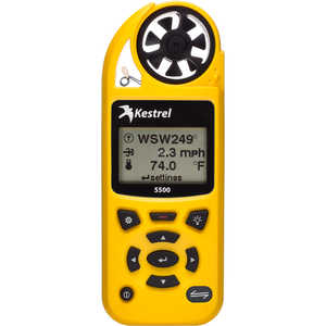 Kestrel 5500 Environmental Meter, Yellow