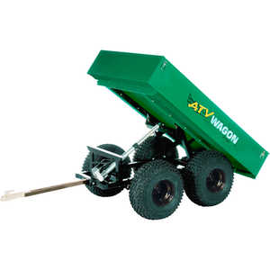 Bosski 1600 UT Steel ATV Trailer - Tandem Axle, Green