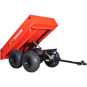 Bosski 1600 UT Steel ATV Trailer - Tandem Axle, Red