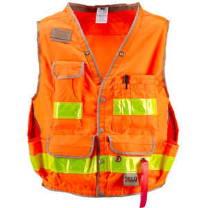 Fluorescent Orange, XX-Large, SECO Class 2 Lightweight Safety Utility Vest