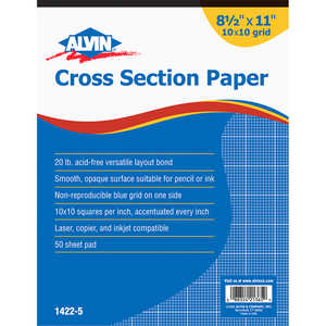 Alvin Cross Section Drawing Paper, 50-Sheet Pad