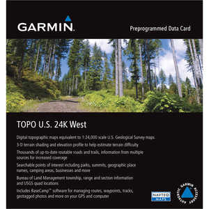 Garmin 24K TOPO Card, West