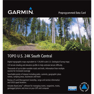 Garmin 24K TOPO Card, South Central