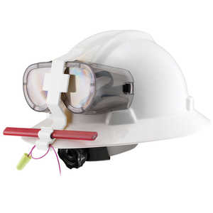 Goggle Guard Hard Hat Clip, White