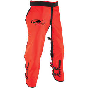 Arborwear RAC Calf Wrap Style Chain Saw Chaps, Long, 34˝-36˝ Inseam, Safety Orange